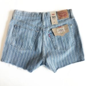 LEVI'S 501 Stripped High Rise Shorts